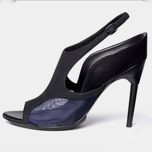 3.1 Phillip Lim Aria Black Blue Slingback Heel 40